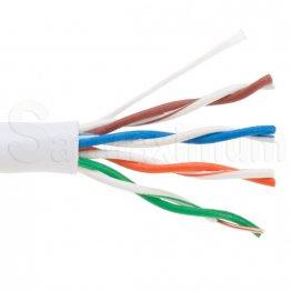 1000FT UTP Solid Plenum CAT5e Ethernet Cable, Bulk wire, SatMaximum -  White