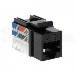Cat5E Keystone Jack RJ45 - Black