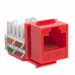 Cat6 Keystone Jack RJ45 Red