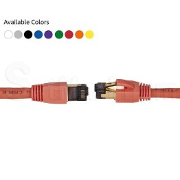 CAT8 Ethernet Network Cable Orange