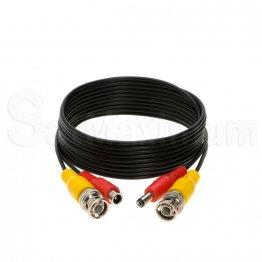 Premade BNC Video Power Cable / Wire for Security Camera, CCTV, DVR, Surveillance System Black 10FT