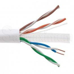 White 1000FT UTP Solid Plenum CAT6 Ethernet Cable