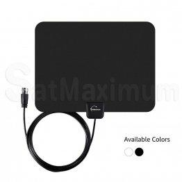Long Range HDTV Indoor Flat Antenna Black