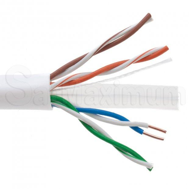 300/' Ft Bulk CAT6 23 AWG UTP Twist Pair Solid Network Ethernet LAN Cable Blue