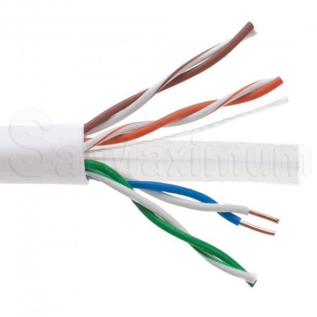 1000ft Utp Solid Plenum Cat6 Ethernet Cable Bulk Wire Satmaximum