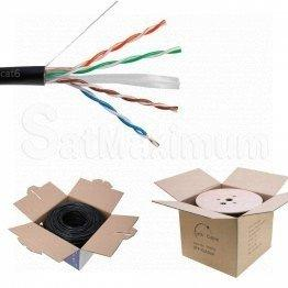 CAT6 Outdoor Cable Packaging: 500FT - Pull Box, 1000FT - Wooden Spool
