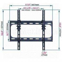 "Flat TV Wall Mount for 32""-55"", Tilt,LED,LCD, Plasma Vesa 400x400mm"