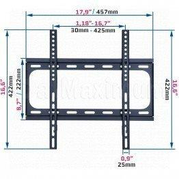 "Fixed TV Wall Mount for 32""-55"",LED,LCD, Plasma Vesa 400x400mm"