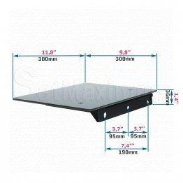 "Fixed single Glass AV Shelf Wall Mount, Up to 22 Ibs., W 11.81"" x D 9.84"" x H 0.20"", SatMaximum"