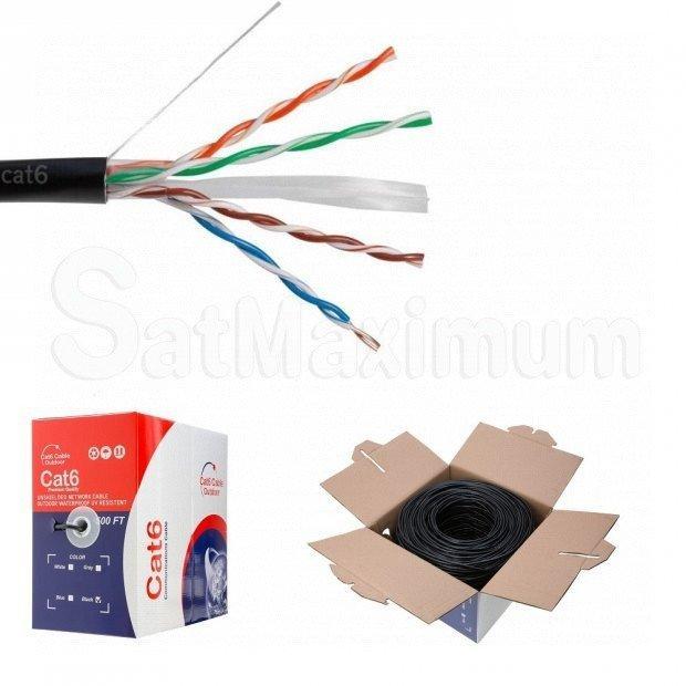 CAT6 OUTDOOR 500FT UTP SOLID BULK CABLE DIRECT BURIAL ETHERNET LAN NETWORK RJ45
