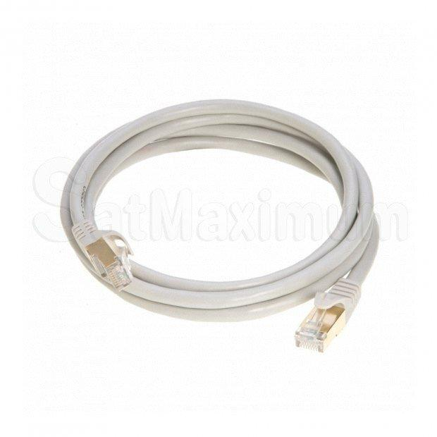 SFTP CAT7 Copper Patch Cord Gold Plated Shielded Network Ethernet LAN Cable, SatMaximum