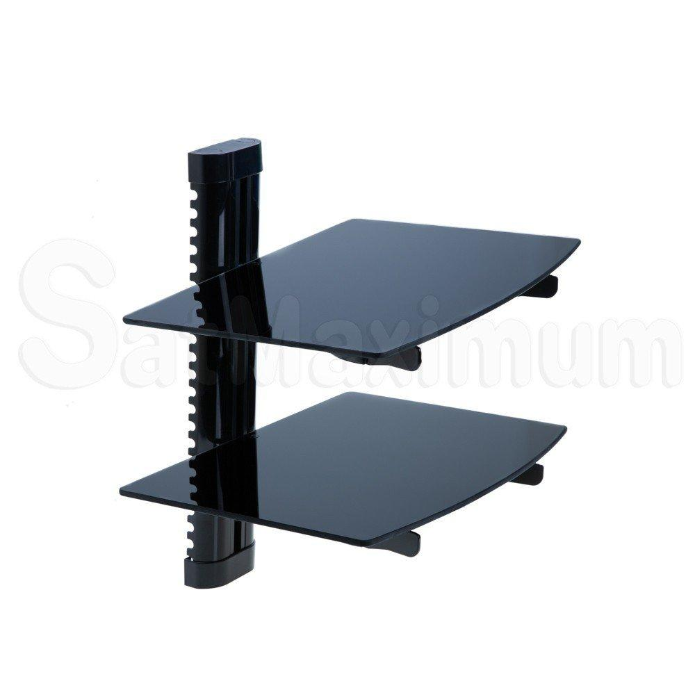 Adjustable Dual Av Shelf Wall Mount With Cable Management System Up To 22 Lbs W14 17