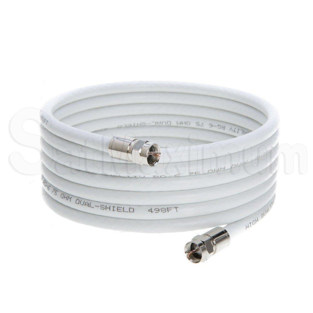 Coaxial Extension Cable with F-Connectors for Satellite Dish TV VCR VIDEO  Antenna, SatMaximum